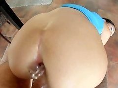 Meg Magic presented in rough anal scene gonzo style by