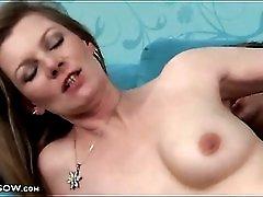 Hardcore fuck of hairy milf pussy