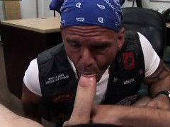 Public jerk off movietures gay Some harsh looking biker dude
