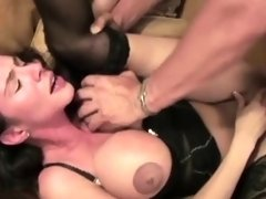 Cunt Flashing Slut Sucks Cock
