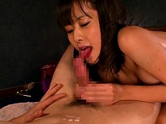 Busty babe nippon facesitting and cocktugging