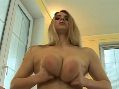 Sweetheart dazzles hunk with her big tits and juicy blowjob