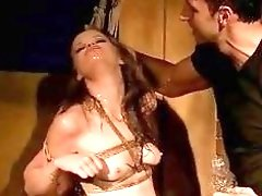 Adrenalzing blondie gets for freedom while being dominated real hard