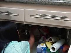 Cindy Starfall fuck a plumbers big cock