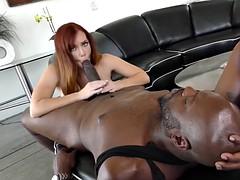 black guy smashes astounding redhead milf in lingerie dani jensen