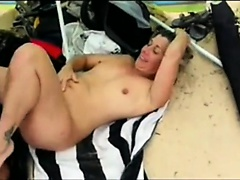 older right hung dad fucks a lady about the seaside