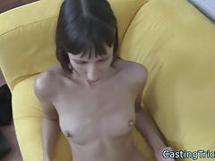 Casting amateur beauty pounded on camera