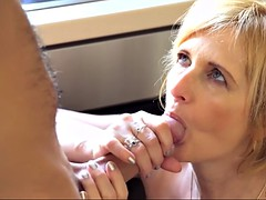 jennyfer caresses her sexy boobs while on the receiving end of a hardcore missionary sex on the couch