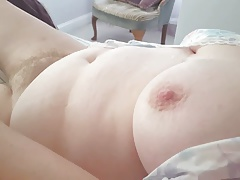 her hairy pussy & big tits in sext nightie