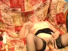 Nanna Nancy Gets Dildo Probed