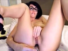 sexy brunette solo masturbation