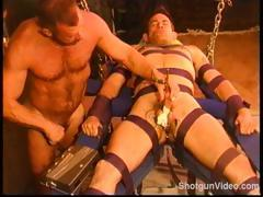 CBT Hot young built smooth dude bound and sound with