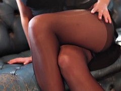 jodie - strips from her black dress
