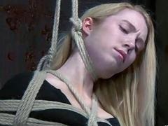 Hot girl gets tied hard by lezdom mistress BDSM movie