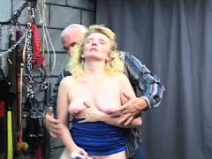 Exposed amateur severe pussy bondage