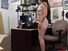 Sexy babe pussy nailed by horny pawn man