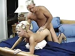 Blonde cunt filled from behind