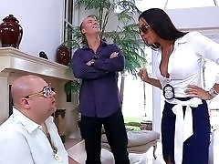 Rich wife Rachel Starr cheats with a big dick