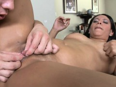 Nice-looking chick is being drilled senseless by lusty hunk