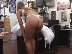 A sexy blonde brides fucking revenge