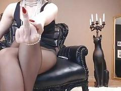 Mistress Heels JOI and Dildo suck instructions for BDSM slaves