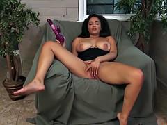 A huge purple dildo in pussy julie kay