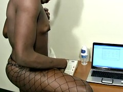 Have a phone sex ebony t-babe this makes secretary ejaculation