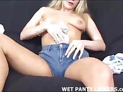 I love rubbing my pussy with soft pairs of panties
