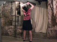 Tied up and gagged brunette bitch just loves bondage