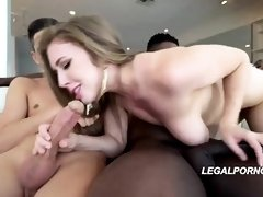 Lena Paul has a huge smile on her face, because she is about to have wild sex