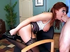 Redhead Britney Amber fucks in the office