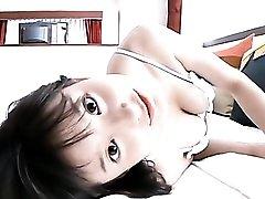 Japanese teen cleavage is amazing in a cute bra