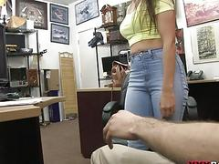 Perky tits babe screwed by pawn dude