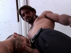 Gay studs sucking dicks and kissing