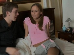Legal age teenager screwed by her boyfriend