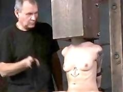 und and gagged skank endures hard whipping session BDSM porn