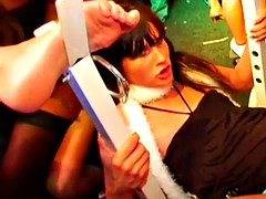 Naughty pornstars fucking in the club