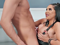 missy martinez in the cage get mouth and big tits fucked