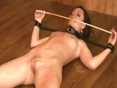 Pretty european slave girl is punished with some hot wax