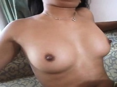 Naughty thai woman gets impaled on a large throbbing prick