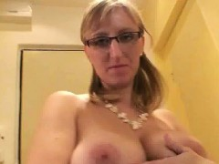 Busty blonde whore gets horny rubbing part6