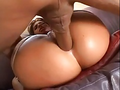 Garter Stocking Anal Fuck On The Sofa
