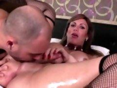 Busty shemale Kananda fucks her horny bf