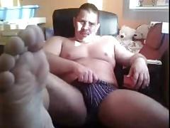 Straight guys feet on webcam #241