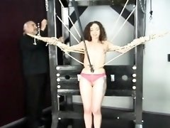 Big tits playgirl bizarre bondage in lustful home scenes