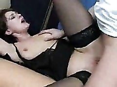 Sleeping gal woken up to fuck hard