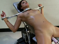 bounded cece stone gets more pleasure she can handle from machine