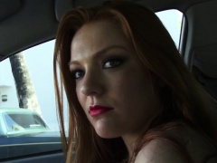 Cocksucking stranded redhead teen facialized
