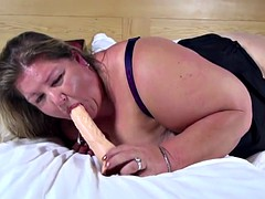 Big fat elderly mother with hungry holes