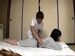 Exotic Japanese girl giving her all to a nasty old dude